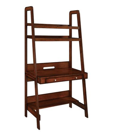 Look at this #zulilyfind! Mahogany Platform Three-Shelf Ladder Desk #zulilyfinds