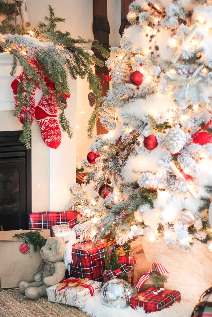 Christmas Home Tour Part 2 White Christmas Tree Decorations Christmas House Tour White Christmas Decor