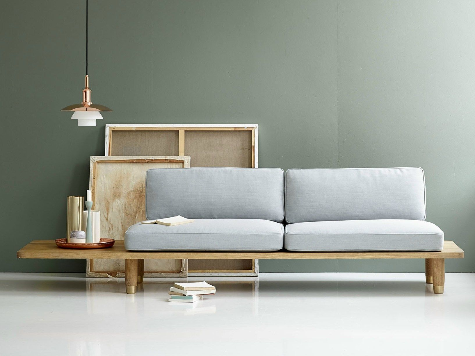 Scandinavian style international elegance plank sofa by for Scandinavian style wohnen