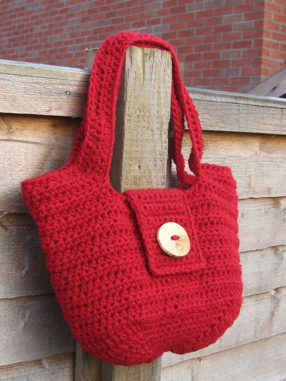Crochet Purse Pdf Pattern Seamless Crochet Handbag Medium Size