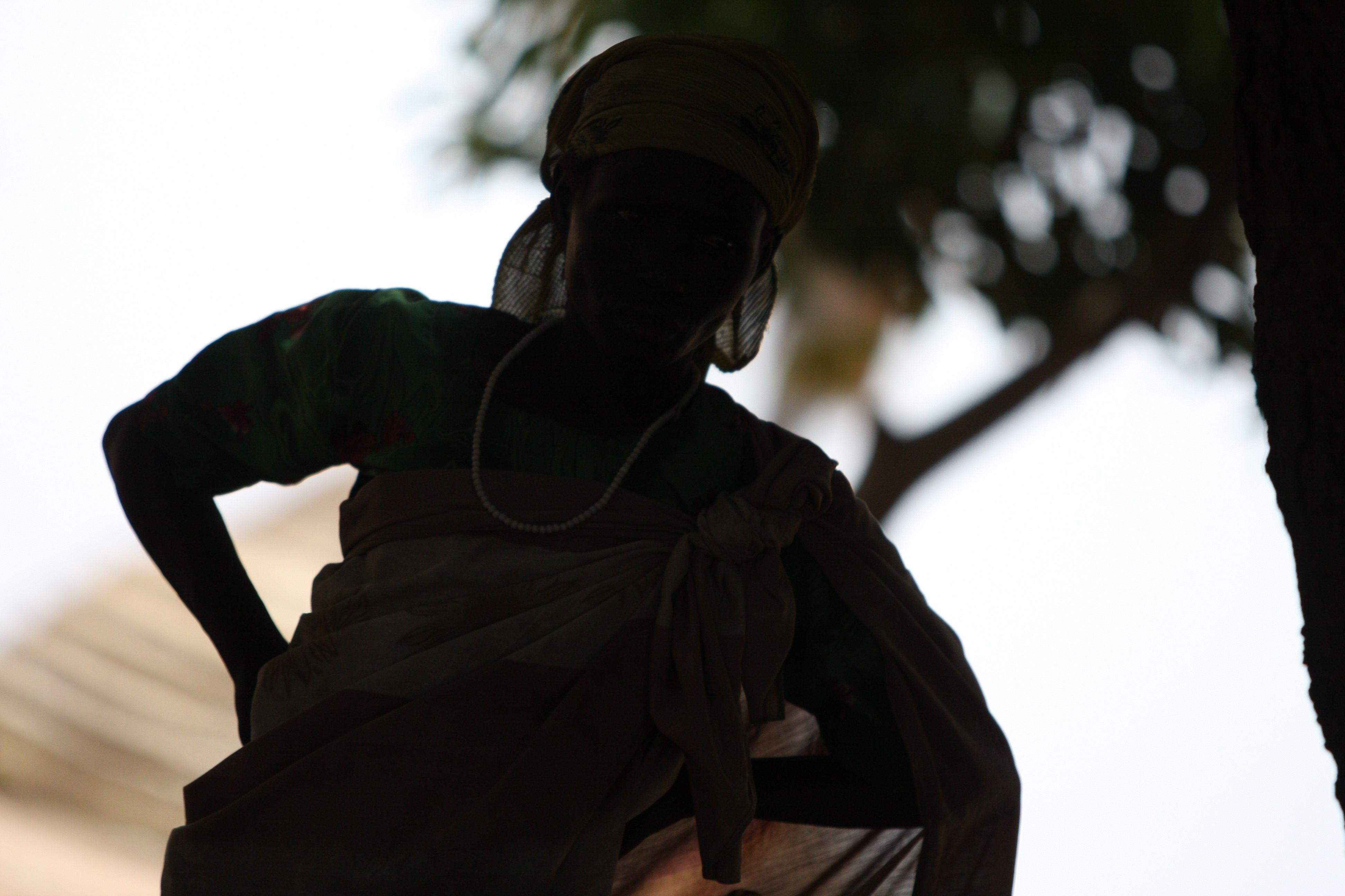 A silhouette of South Sudan