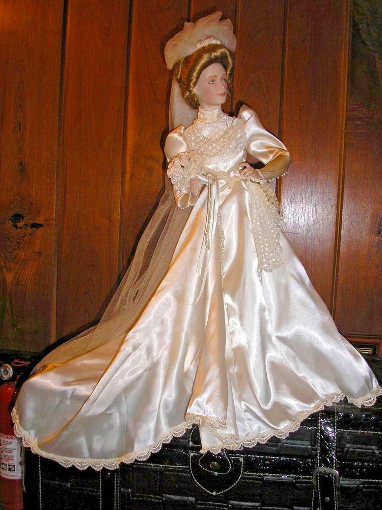 Gibson Girl Porcelain Bride Doll Franklin Mint Heirloom