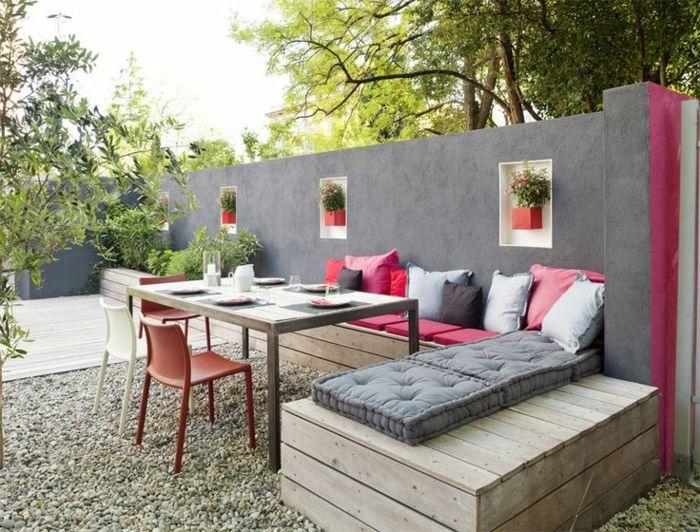 Voici Nos Exemples Pour Un Banc De Jardin Mobilier De Jardin Contemporain Banc Jardin Et Idee Deco Terrasse