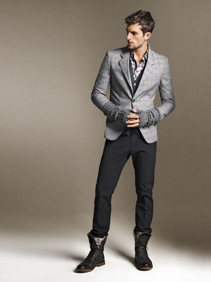 men-work-outfits-with-boots-3 | Things to Wear | Pinterest | Style ...