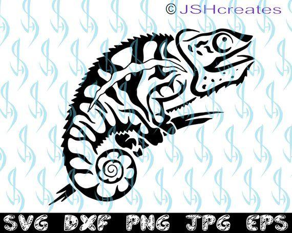 52cb862ec Lizard svg, Chameleon svg, SVG, clipart, decal, eps, dxf, png ...