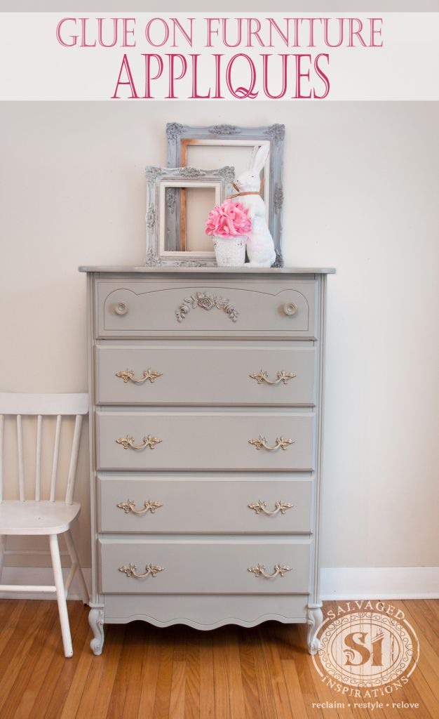 From My Favorite Furniture Upcycler, Denise. Dress Up Your Furniture With  Easy To Glue On Looks Like Wood Appliques!