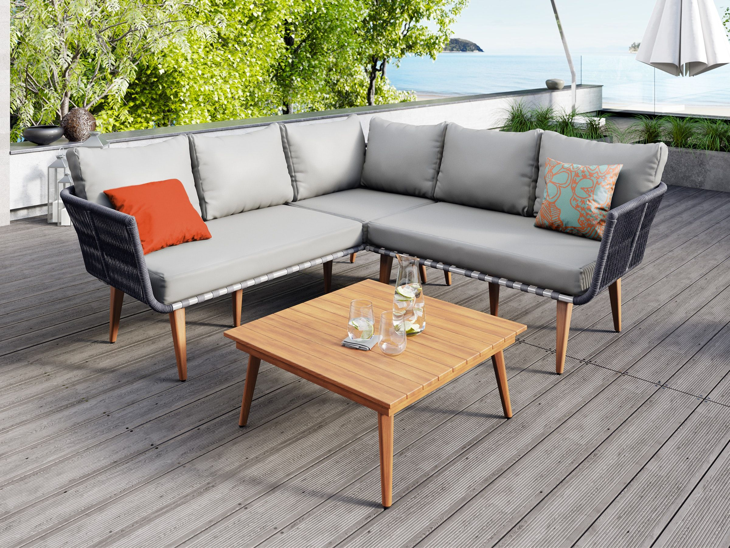 Tulum Corner Suite Outdoor Furniture Nz Outdoor Lounge Set Outdoor Lounge Furniture