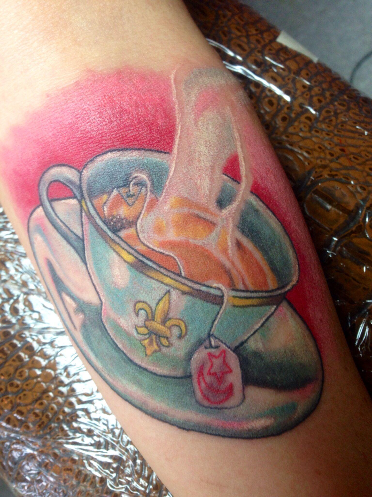 Red Rabbit Tattoo : rabbit, tattoo, Chris, Chavers, Rabbit, Tattoo, Asheville, #teacup, #teacuptattoo, #colorrealism, Teacup, Tattoo,, Tattoos,, Tattoos