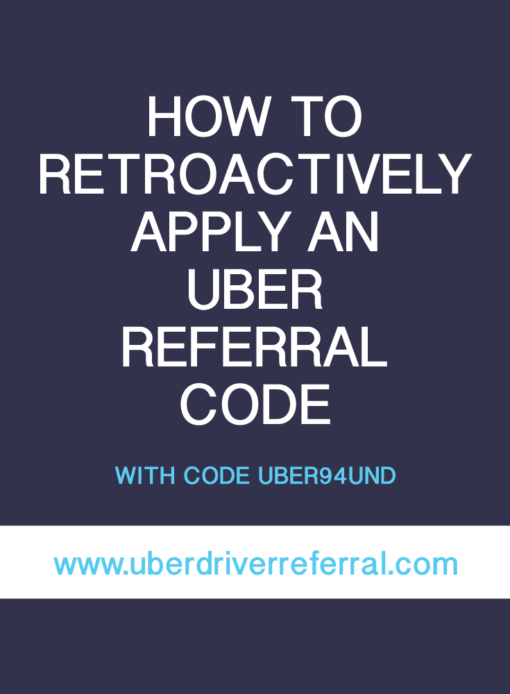 Retroactive Uber Referral Code (With images) Uber