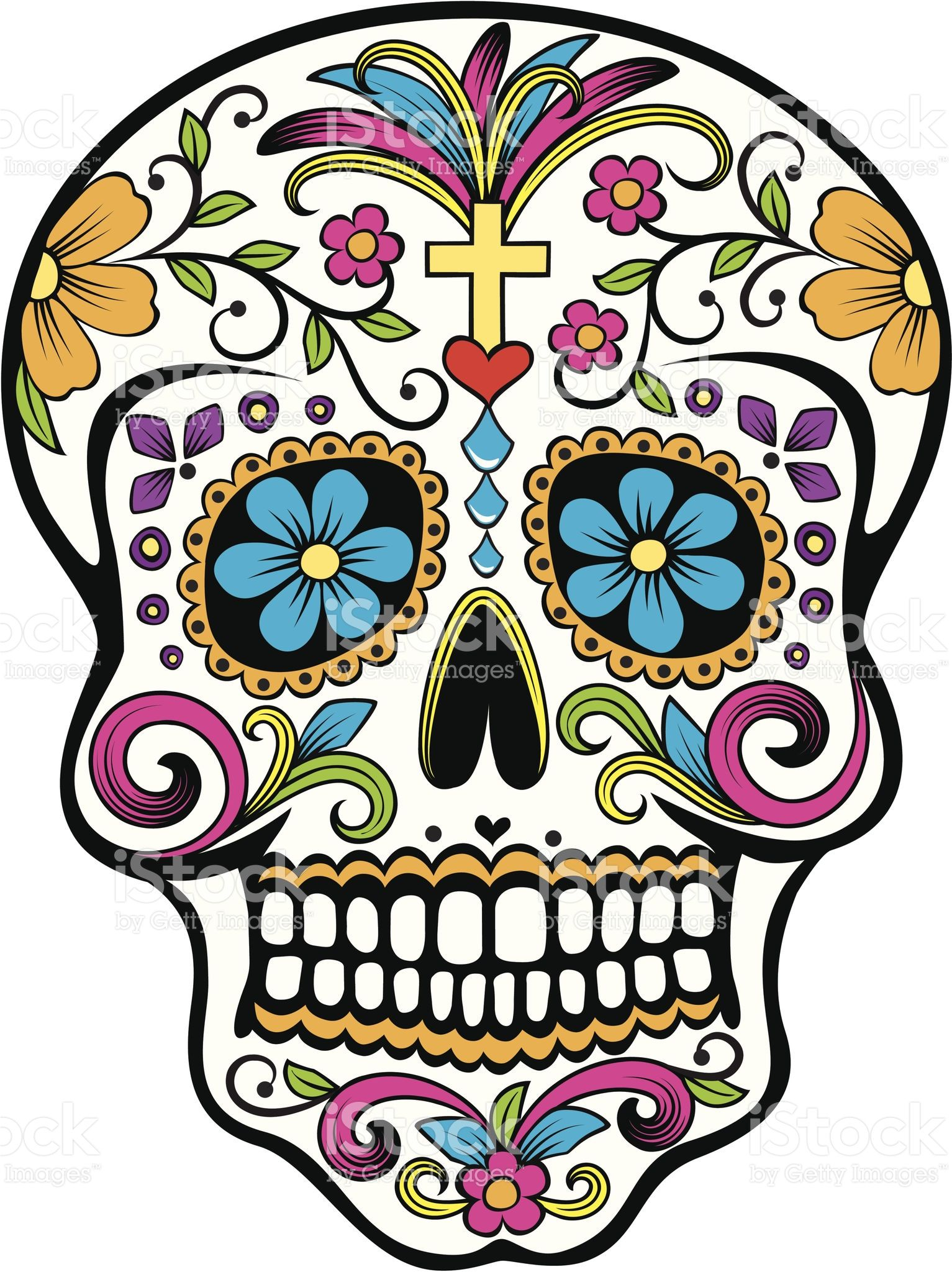 vector illustration of a mexican celebrated holiday day of the dead rh pinterest com day of the dead vector art day of the dead skull vector free