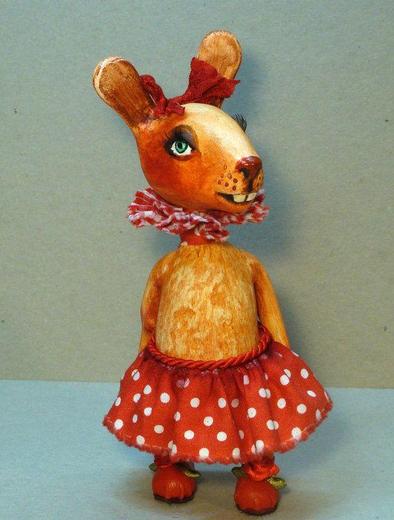Art doll Souvenir Bunny girl by VilmaDollsHouse on Etsy