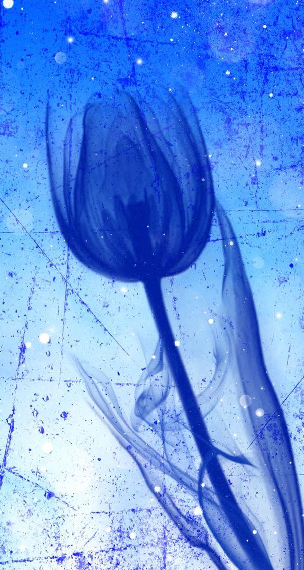 Blue Art Flower