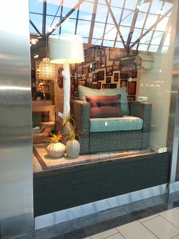Lovesac Stonebriar window display May 2013
