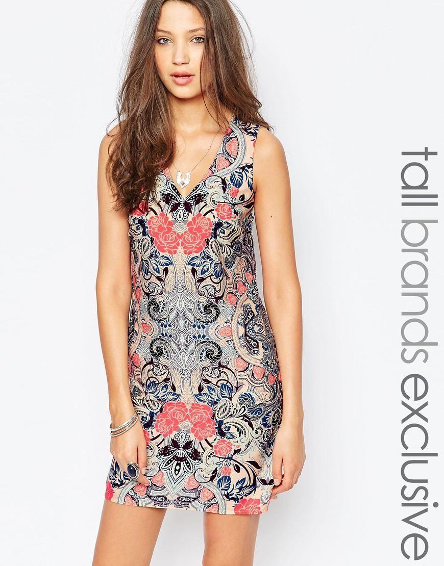 New look tall new look tall printed dress at asos summer