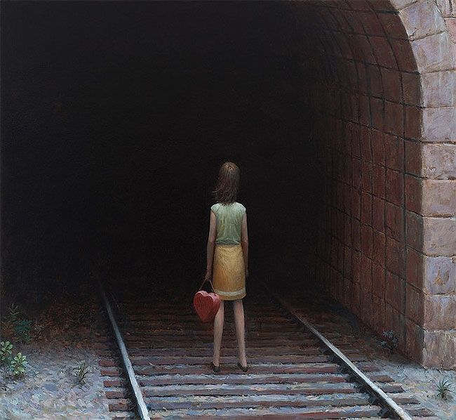 This Dreadful Emptiness: Dark And Depressive Illustrations By Aron Wiesenfeld