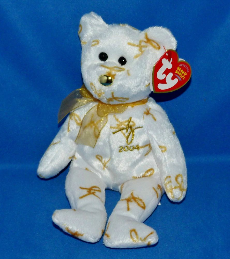 8.5 inch - MWMT/'s Stuffed Animal Toy 2004 SIGNATURE BEAR TY Beanie Baby