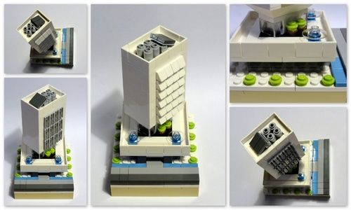 lego office building. Office Block: A LEGO® Creation By Gerrit Buys : MOCpages.com Lego Building