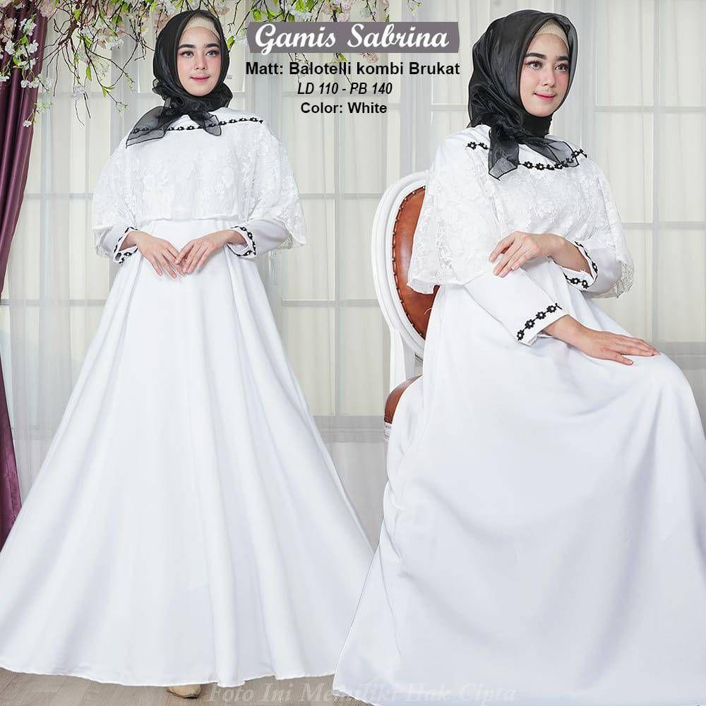 Model Gamis Putih Kombinasi Terbaru  Model, Baju muslim, Pengantin