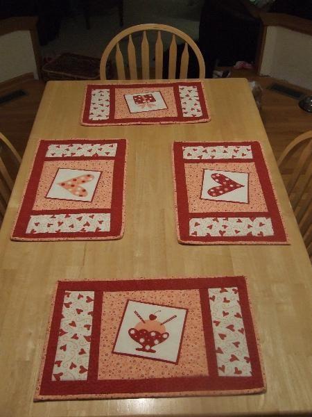 valentine place mats | Nähen | Pinterest | Nähen