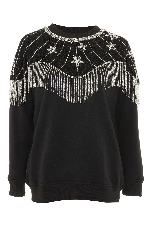 a07002583b2 Star Cape Embellished Sweatshirt - Clothing- Topshop