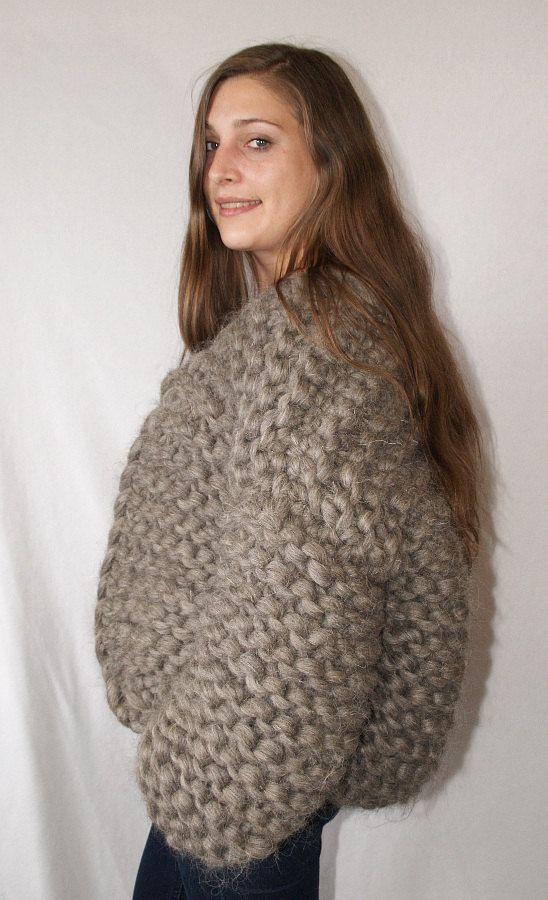 To Order Cardigan Thick Knit Jacket 100 Soft Merino