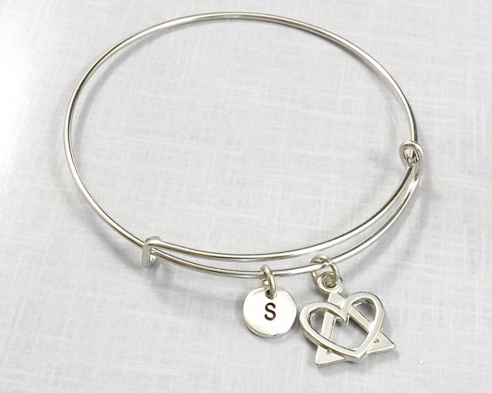 68898d3d5 Adoption Bracelet, Adoption Jewelry, Adopting, Adoption Symbol Bangle,  Foster Parent, Birth