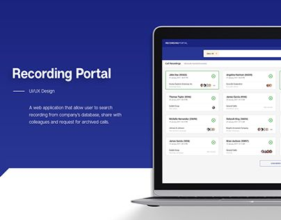 "Check out new work on my @Behance portfolio: ""Recording Portal"" http://be.net/gallery/51549119/Recording-Portal"