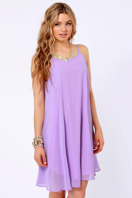 0d2df58fba Pretty Lavender Dress - Midi Dress - Tank Dress -  35.00
