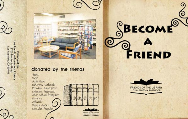 Friends Of The Library Brochure On Behance Friends Of The Library Library Brochure