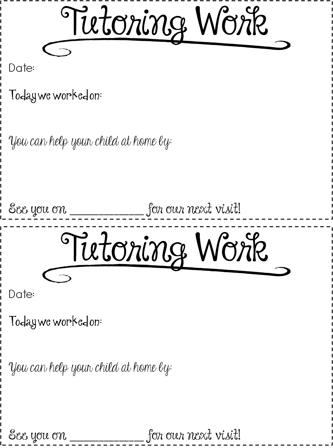 Free Tutoring Forms & Tips!   Summer, I am and Student-centered ...