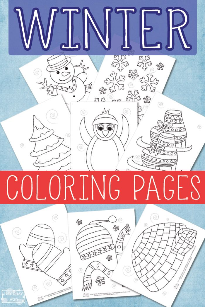 Winter Coloring Pages for Kids | invierno | Pinterest