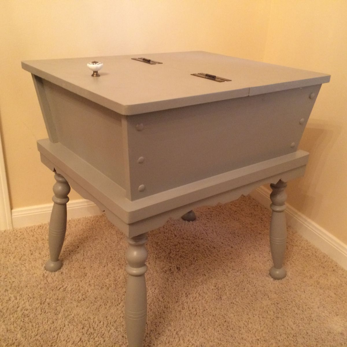 Dough Box End Table | Pinterest | Box, Paint furniture and Living rooms