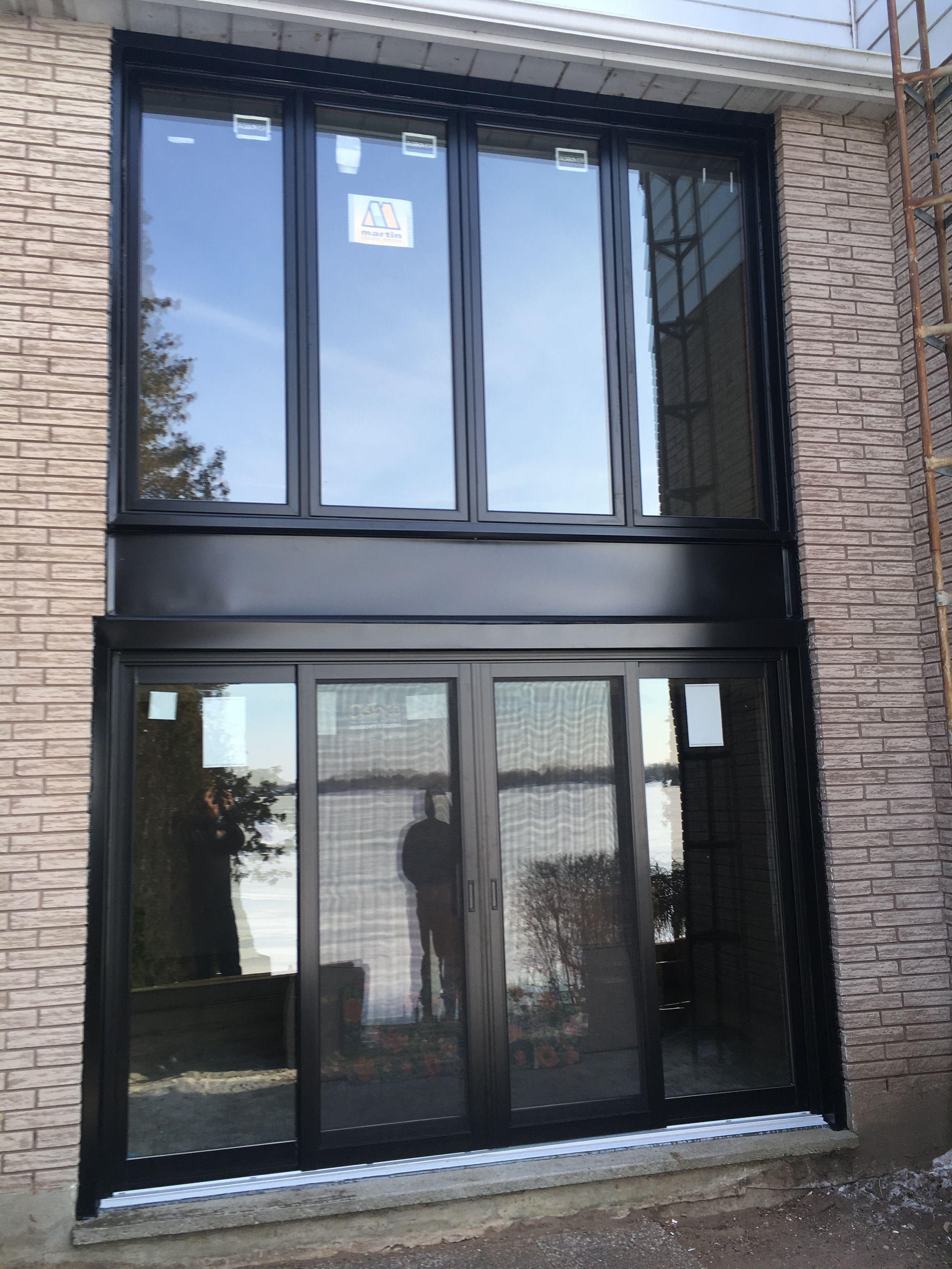 Martin Wood Cat Picture Window And Moose 4 Panel Patio Door