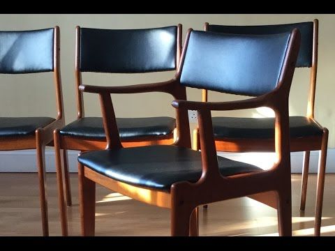 64 How To Re Upholster The Backs Of Danish Midcentury Modern Teak Dining Chairs