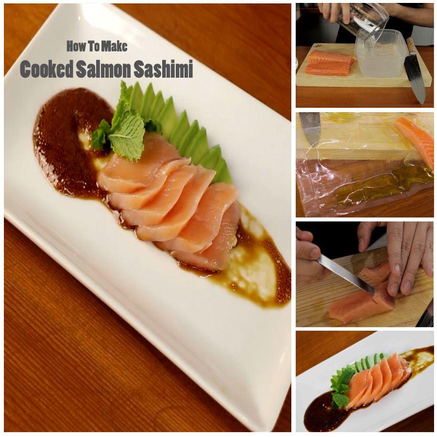 Cooked Salmon Sashimi Recipe Make Sushi Salmon Sashimi Cooking Salmon Sashimi