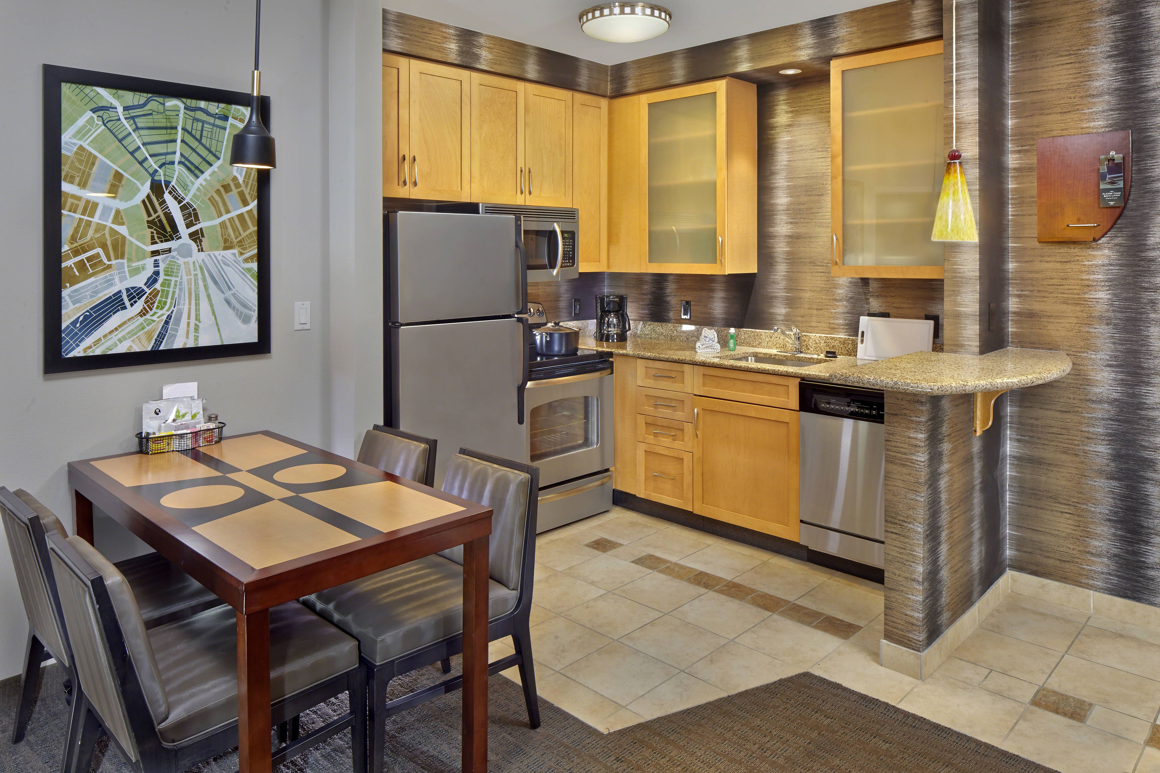 Residence Inn Orlando Lake Mary Suite Kitchen Guestroom Comfort