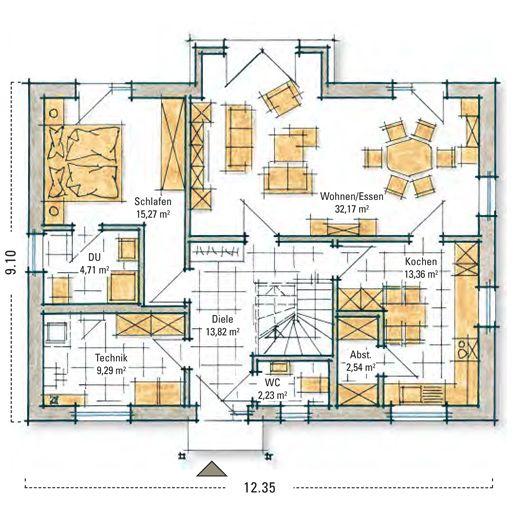 Fertighaus Lengfeld Erdgeschoss Haus grundriss, Haus