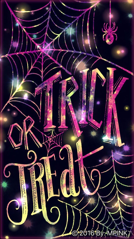 © 2016 Halloween Trick Or Treat Glitter Wallpaper #halloweenbackgroundswallpapers