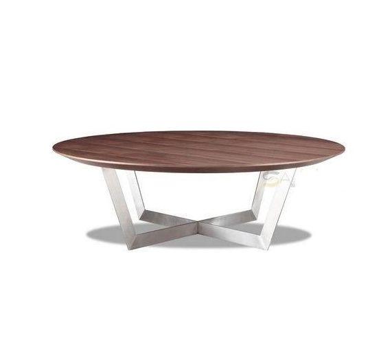 Beau Nuevo Living Dixon Round Coffee Table In Walnut