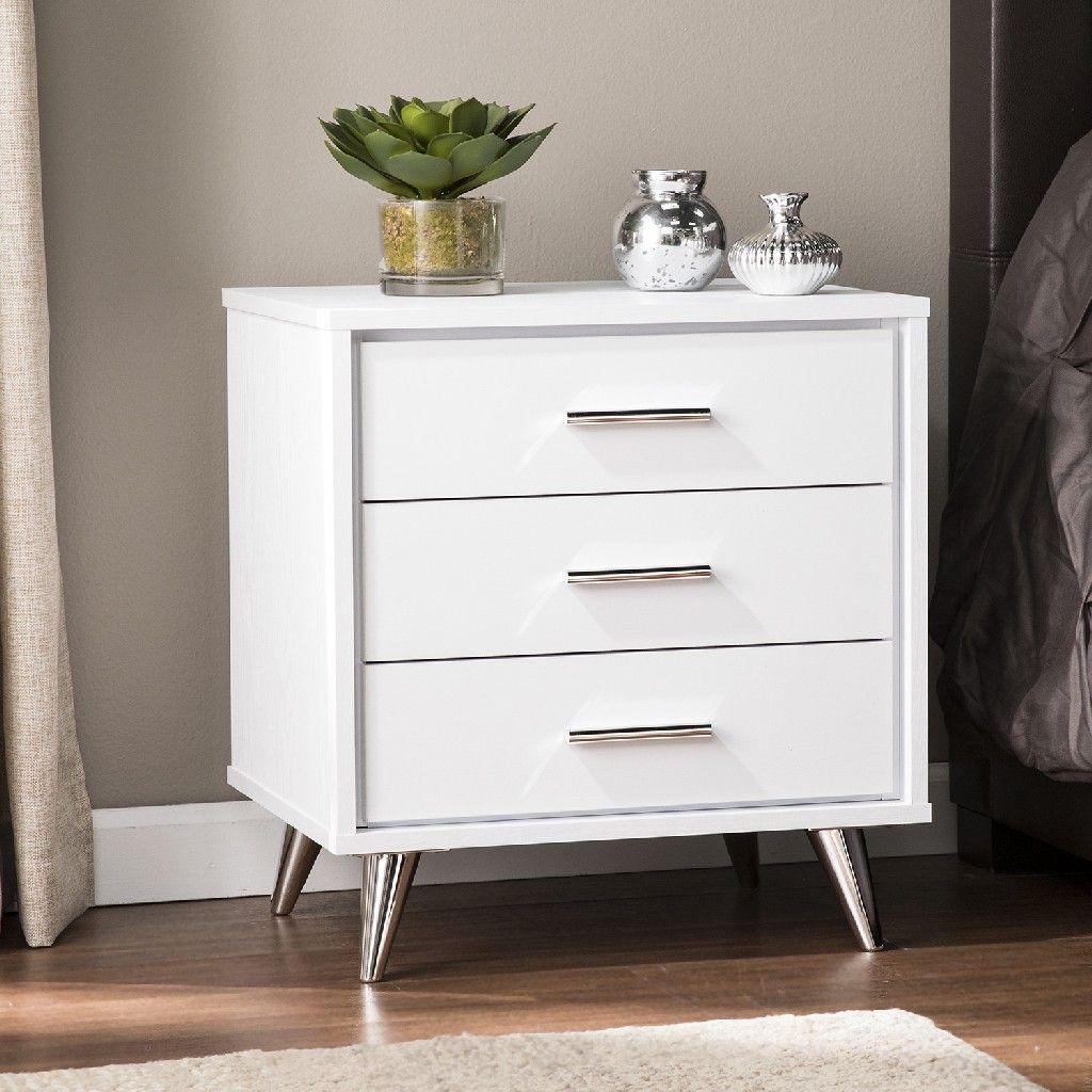Oren Modern Bedside Table w/ Drawers Southern
