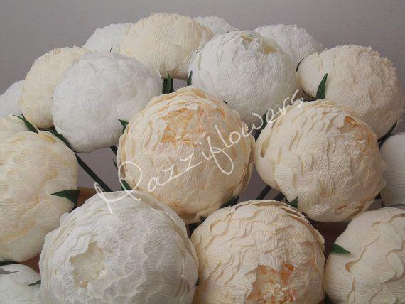 Wedding flowerswedding bouquetwedding peoniespaper by Mazziflowers