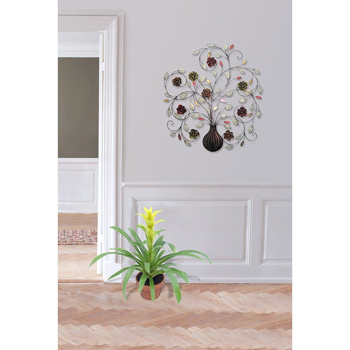 Pin On Metal Flower Wall Art