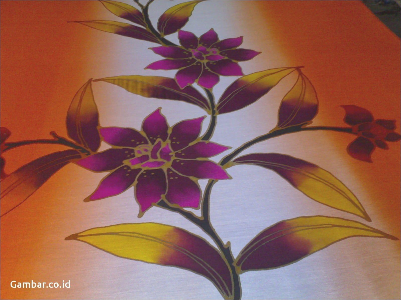 Batik Lukisan Bunga Di 2020