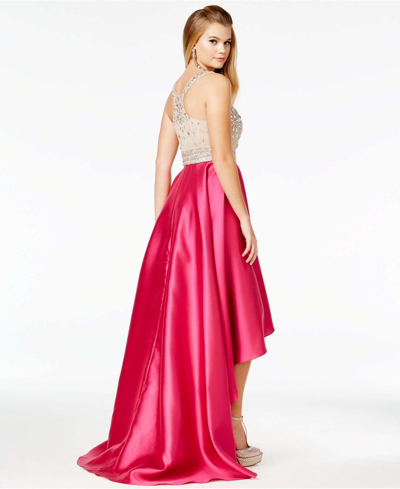 Say Yes to the Prom Juniors' Embellished High-Low Gown, A Macy's ...