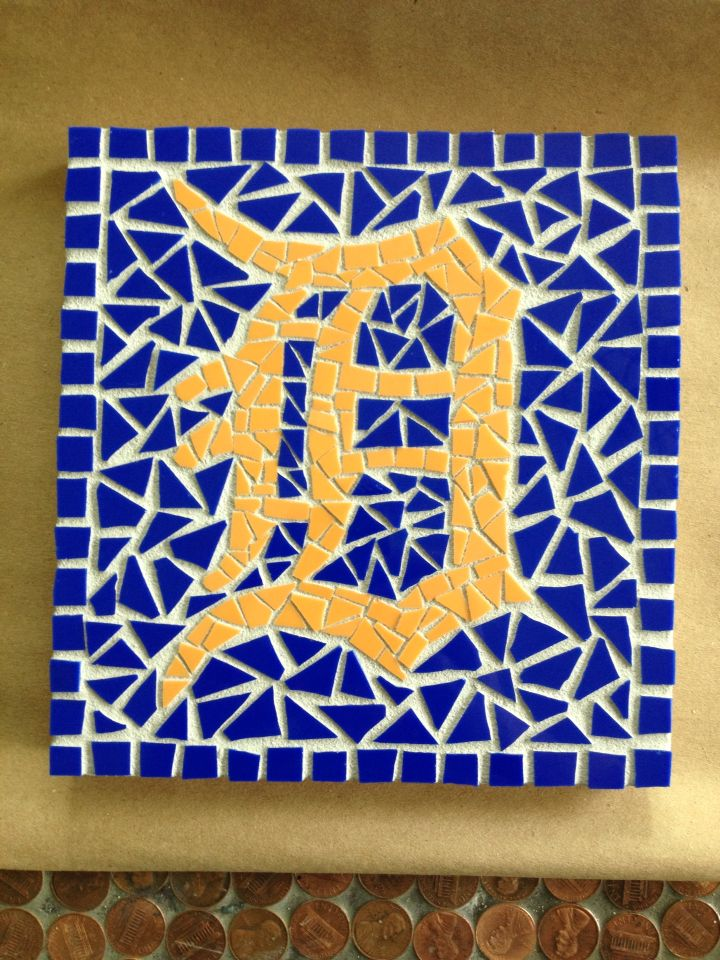 Detroit Tigers Mosaic 7 X 7 With Images Mosaic Peace Symbol Mosiac