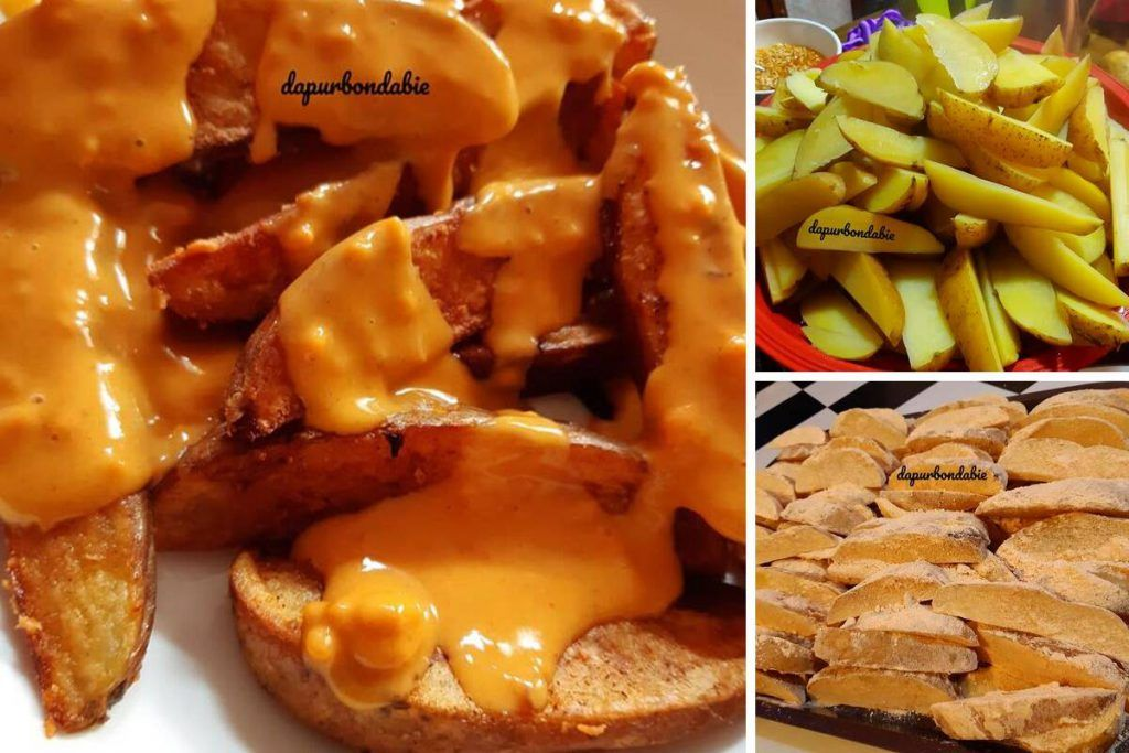 5kg Kentang Kos Tak Sampai Rm15 Ini Cara Buat Cheesy Wedges Homemade Paling Jimat Rasa Homemade Cheesy Food