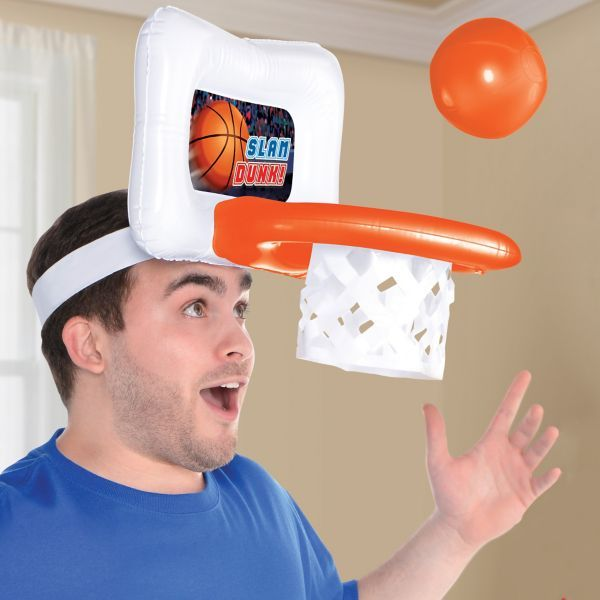 Inflatable Basketball Game Hat 13in X 10in Party City Basketball Theme Party Basketball Birthday Parties Sports Birthday Party