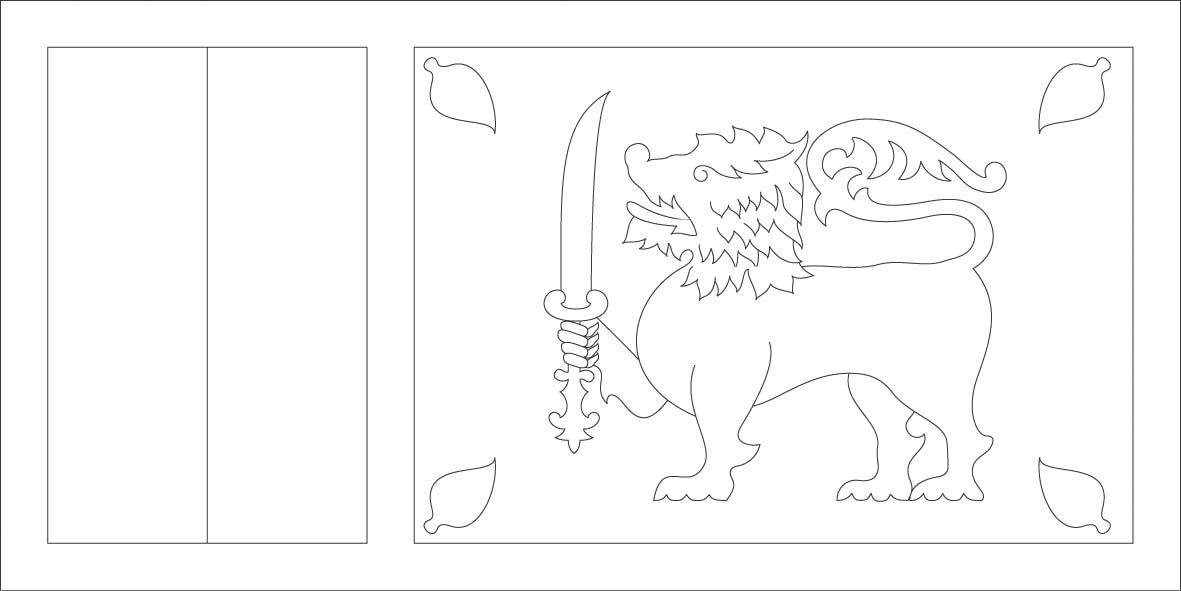 Sri Lanka Flag Coloring Page Sonlight Core C Window On The