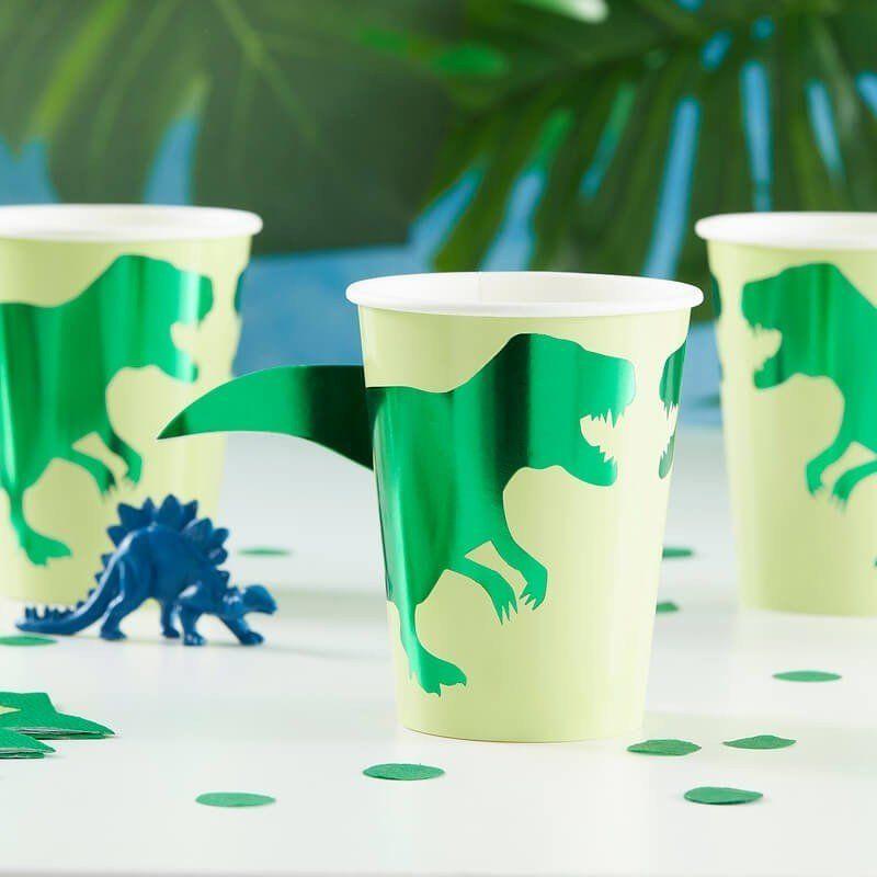 Pappbecher Dinosaurier
