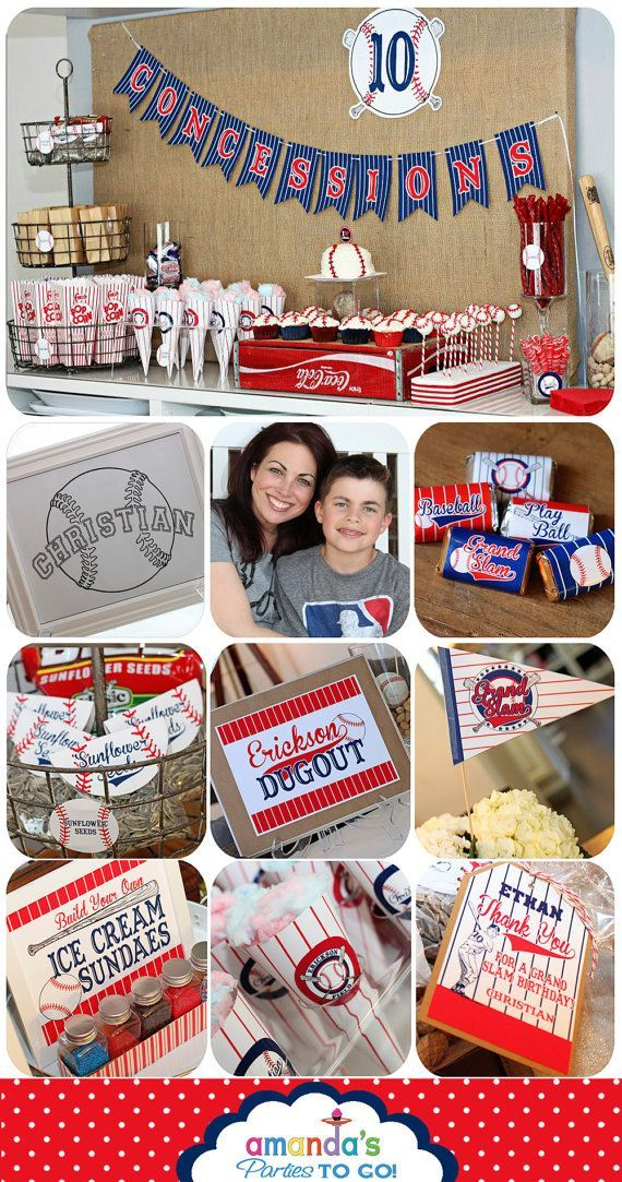Cute Baseball Birthday printables with lots of personalization by Amanda's Parties TO GO